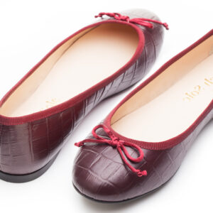 Image 4 for Lola Burgundy Leather Croc (LOL25)