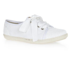 Image 1 for Moocher White Leather Glitter (MCH07)