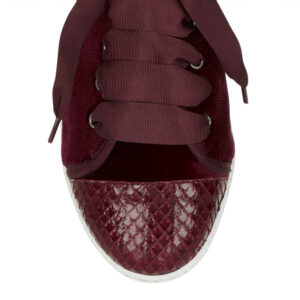 Image 2 for Moocher Burgundy Velvet Snake Toe (MCH38)