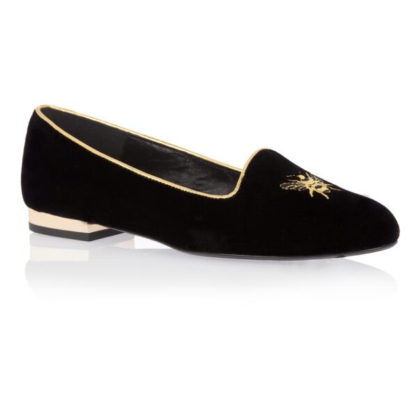 Image 1 for Opera Slipper Black Velvet (OPR06)