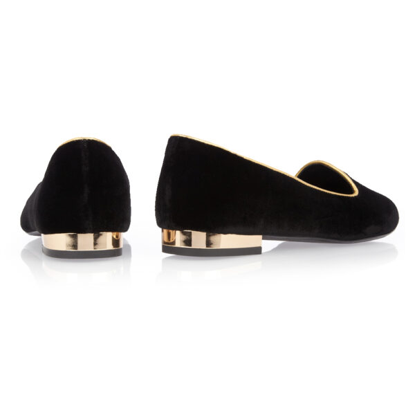 Image 4 for Opera Slipper Black Velvet (OPR06)