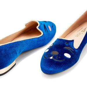 Image 2 for Opera Slipper Royal Blue Velvet (OPR115)