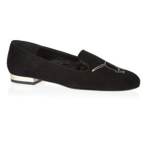 Image 1 for Opera Slipper Black Suede (OPR15)