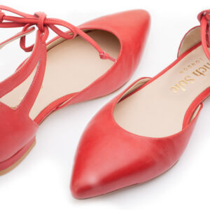 Image 3 for Penelope Ankle Tie Red Napa Leather (PAT02)