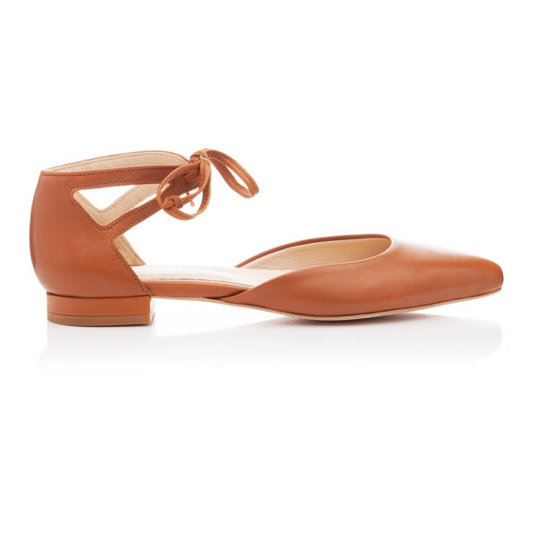 Image 2 for Penelope Ankle Tie Tan Leather (PAT03)