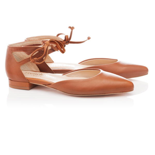 Image 3 for Penelope Ankle Tie Tan Leather (PAT03)