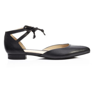 Image 1 for Penelope Ankle Tie Black Leather (PAT05)