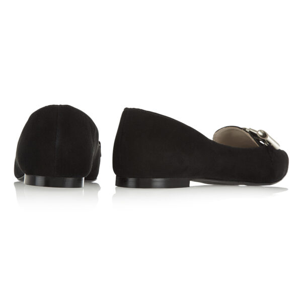 Image 4 for Penelope Black Suede With Metal Trim (PENL04)