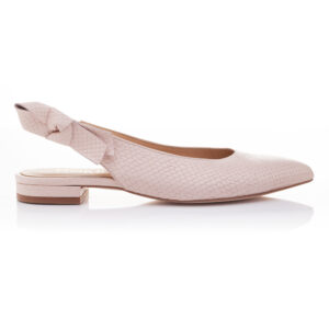 Image 1 for Penelope Mule Light Pink Leather Snake (PM02)