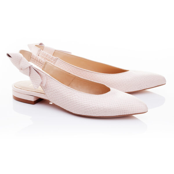 Image 2 for Penelope Mule Light Pink Leather Snake (PM02)