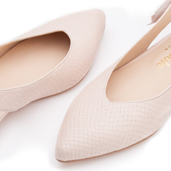 Image 3 for Penelope Mule Light Pink Leather Snake (PM02)