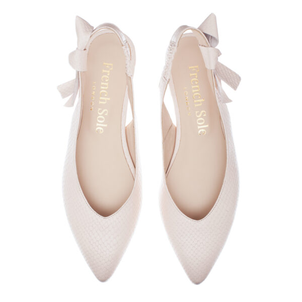 Image 4 for Penelope Mule Light Pink Leather Snake (PM02)