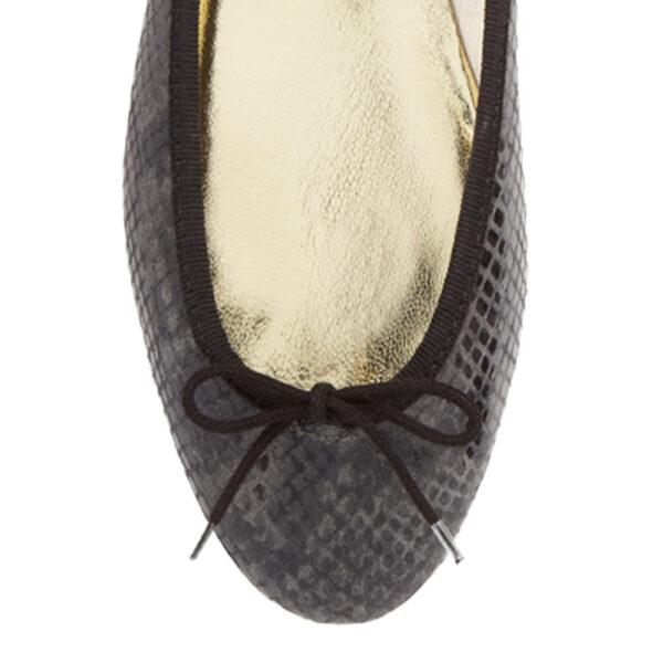 Image 2 for India Black Snakeskin Effect Leather (PT276)
