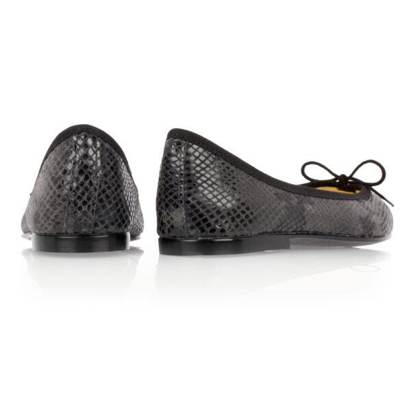 Image 4 for India Black Snakeskin Effect Leather (PT276)