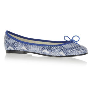 Image 1 for India Cobalt Snake Leather (PT706)
