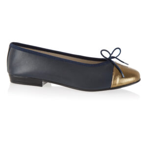 Image 1 for Sturdy Navy Leather   Metallic Toe (SD274)