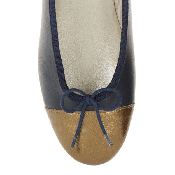 Image 2 for Sturdy Navy Leather   Metallic Toe (SD274)