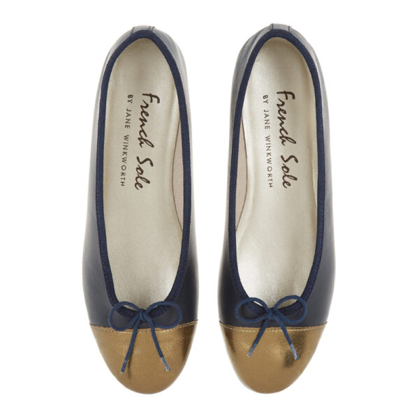 Image 3 for Sturdy Navy Leather   Metallic Toe (SD274)