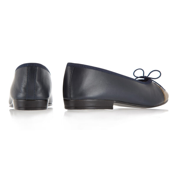 Image 4 for Sturdy Navy Leather   Metallic Toe (SD274)