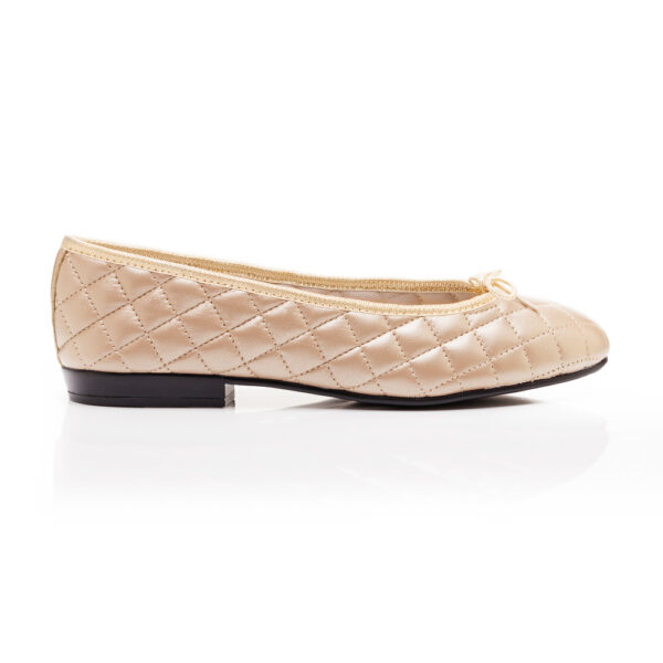 Image 1 for Sturdy Gold Quilted Metallic Leather (SD276)