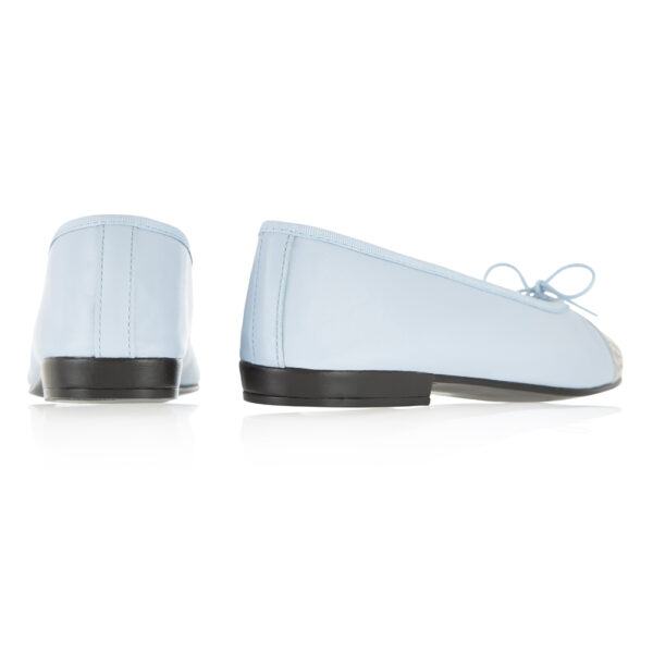 Image 4 for Sturdy Pale Blue Leather Metallic Croc Toe (SD285)
