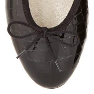 Image 2 for Simple Black Patent Crocodile (SM569)