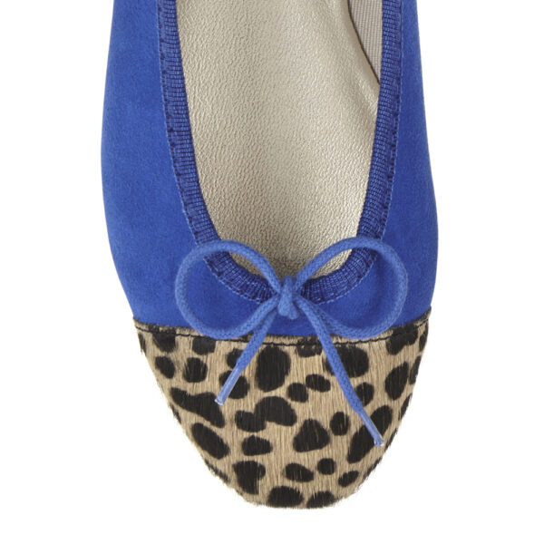 Image 2 for Simple Cobalt Suede   Calf Hair (SM583)