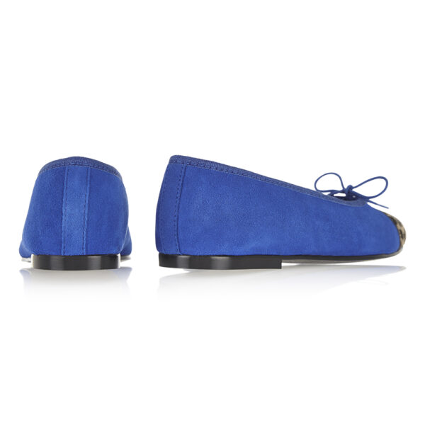 Image 4 for Simple Cobalt Suede   Calf Hair (SM583)