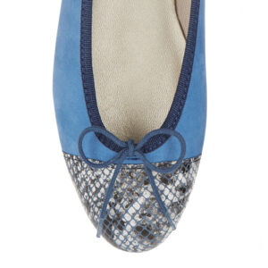 Image 2 for Simple Blue Nubuck   Snake Toe (SM594)