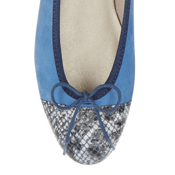 Image 2 for Simple Blue Nubuck   Snake Toe (SM594)