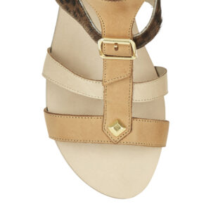 Image 2 for Glastonbury Gladiator Tan Leather And Calfhair (TPO11)