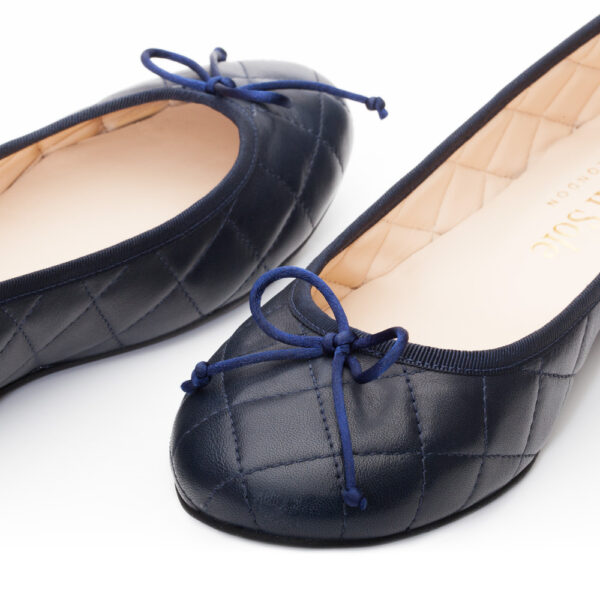 Image 1 for Lola Navy Quilted Leather (LAQ04)