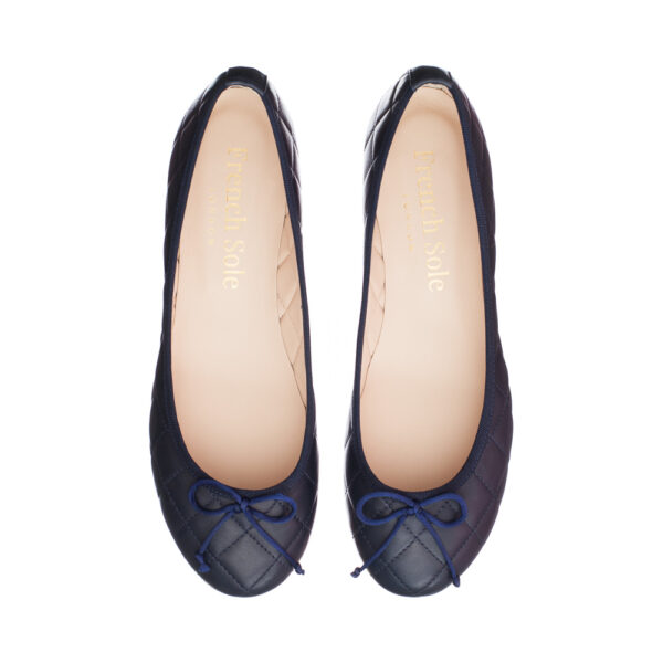 Image 2 for Lola Navy Quilted Leather (LAQ04)