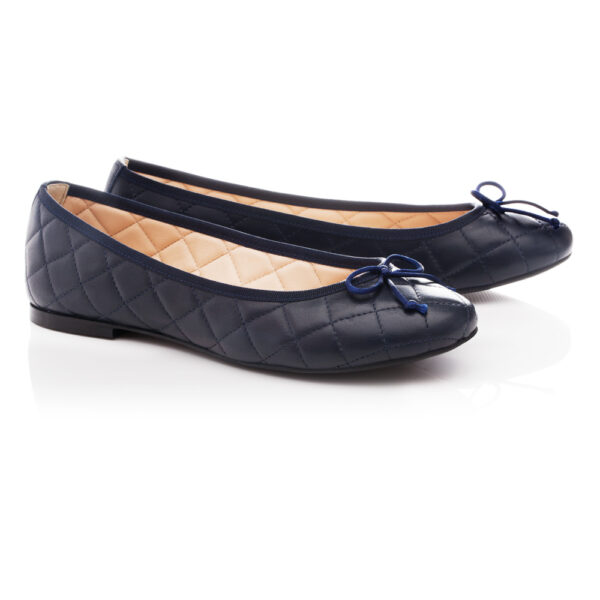 Image 4 for Lola Navy Quilted Leather (LAQ04)