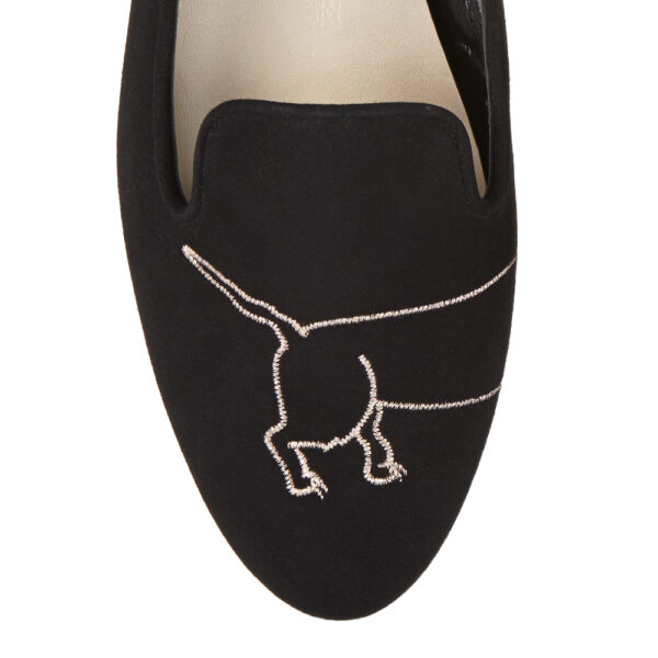 Image 2 for Opera Slipper Black Suede (OPR15)